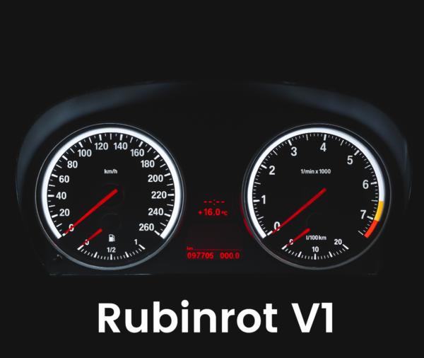 Tachobeleuchtung Umbau E90 E91 E92 E93 rote Zeiger