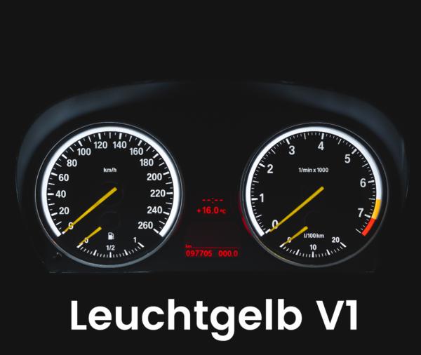 Tachobeleuchtung Umbau E90 E91 E92 E93 gelbe Zeiger